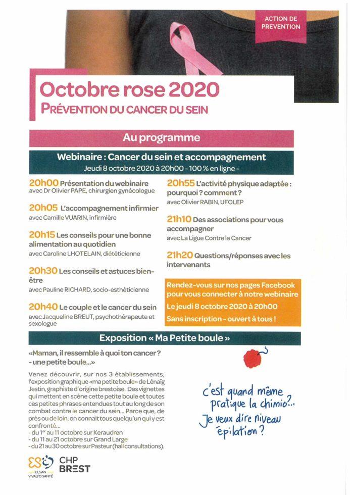 Affiche octobre rose 2020 chpb