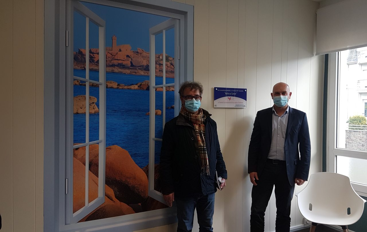 Inauguration salon dattente onco